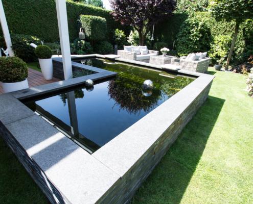 Gartenteich bocholt bauen Gartenbau und Landschaftsbau Bocholt Innovatio Koibecken Wasser im Garten